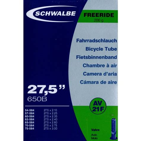chambre a air vtt 27 5 increvable chambre à air schwalbe freeride av21f 27 5