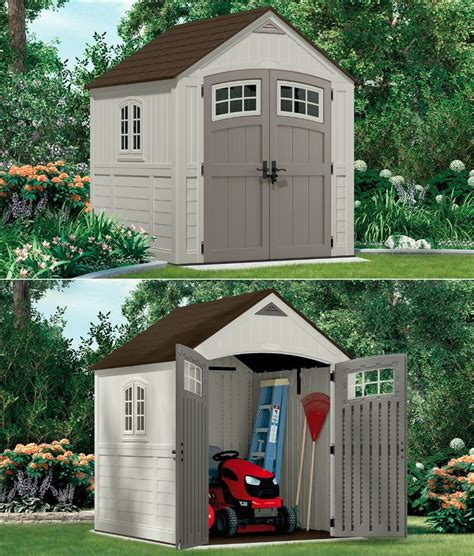 Suncast Toter Trash Can Shed by Resin Shed 8x10 Storage Shed Rubbermaid Sheds Resin