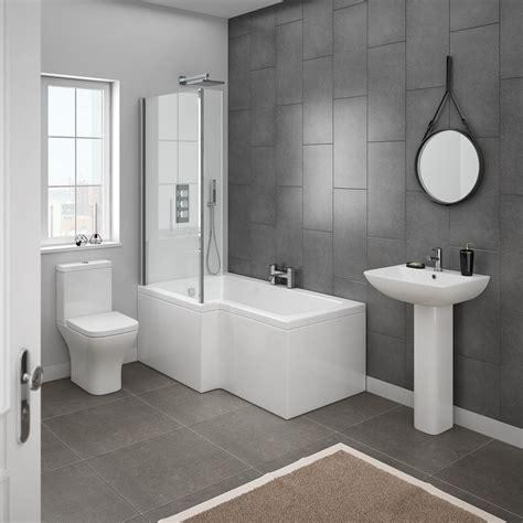 Modern Bathroom Suites Ideas by Milan Modern Shower Bath Suite At