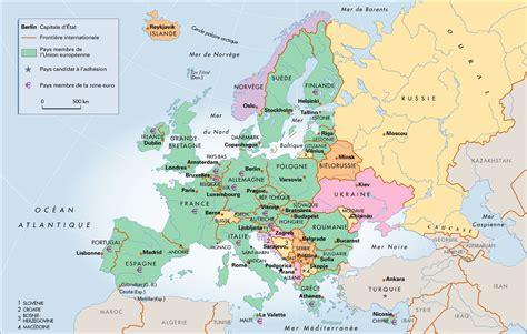 Carte Européenne Avec Capitales by Carte Capitale De L Union Europ 233 Enne