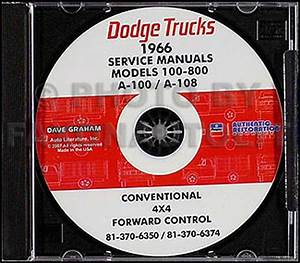 1966 Dodge Truck Shop Manual On Cd Pickup Power Wagon