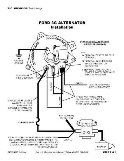 ford alternator wiring diagram wiring diagram blog ford