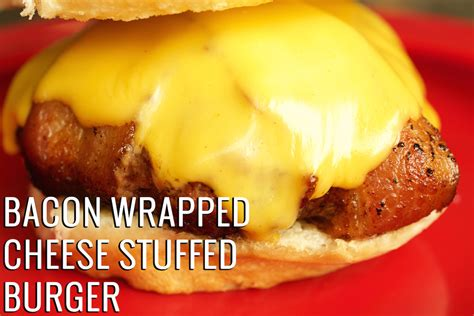 bacon wrapped cheese stuffed burgers recipe