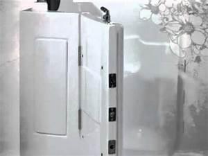 Sitzbadewanne Mit Dusche : senioren dusche sitzbadewanne sitzwanne duschbadewanne mit t r pool a108d youtube ~ Frokenaadalensverden.com Haus und Dekorationen