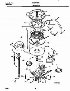 Motor  Tub Diagram  U0026 Parts List For Model Mwx233res4 Universal