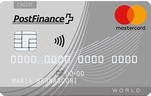 postfinance mastercard standard moneylandch