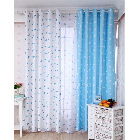 cute blue  white  quality bedroom  nursery curtains