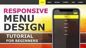 Responsive Menu With HTML CSS And Javascript How To