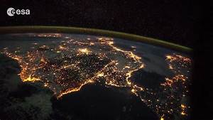 Canary Islands to Italy at Night | Time-lapse | Space ...