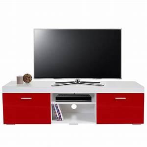 Tv Rack Mit Rückwand : tv rack portland fernsehtisch lowboard hochglanz 140x40x40cm rot ~ Bigdaddyawards.com Haus und Dekorationen