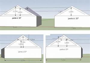 Calcul Surface Toiture 2 Pans : construction d 39 un grand garage avec mezzanine 8 messages ~ Premium-room.com Idées de Décoration