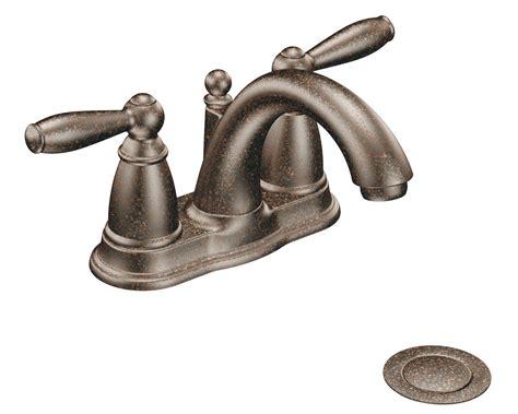 moen brantford moen 6610orb brantford 2 handle lavatory faucet with drain