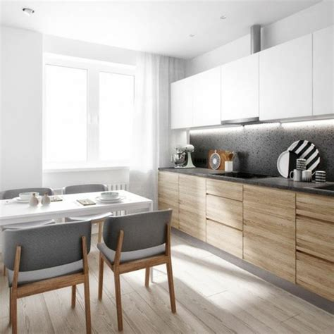 cuisine moderne blanc et bois la chaise de cuisine moderne en 62 photos inspirantes