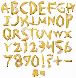 banana font beware of the banana handmadefont With banana letters