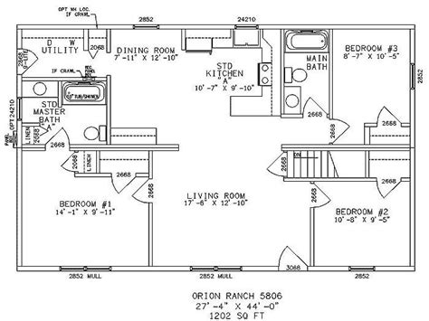 4 Bedroom Ranch House Plans With Basement by New One Story Ranch House Plans With Basement New Home