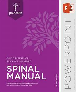 Spinal Manual - Powerpoint By Body Region