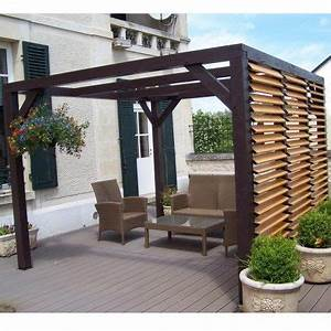 Abri De Jardin Avec Pergola : pergola en bois avec vantelles amovibles sur 1 c t ~ Dailycaller-alerts.com Idées de Décoration