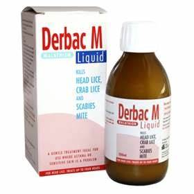 Derbac-M Liquid 200ml - ExpressChemist.co.uk - Buy Online Malathion Skin Lotion