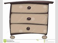 Cartoon Home Furniture Chest Of Drawers Stock Vector