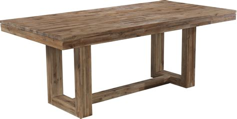 kitchen collection outlet store modern rectangular dining table with rustic trestle base