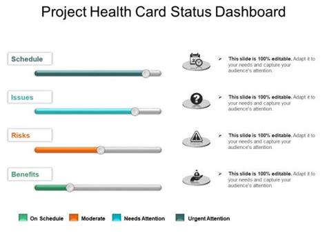 project health card status dashboard powerpoint