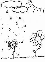 Coloring Sun Shower Spring Flowers Printables Colorat Soare Craft Planse Elf Ploaie Coloringkids Si Springtime Vara sketch template