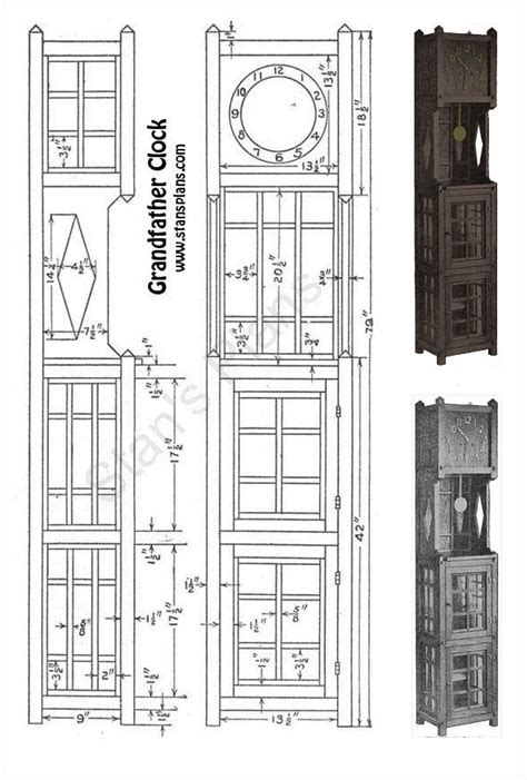 pdf diy plans for grandfather printable plans for a grandfather clock