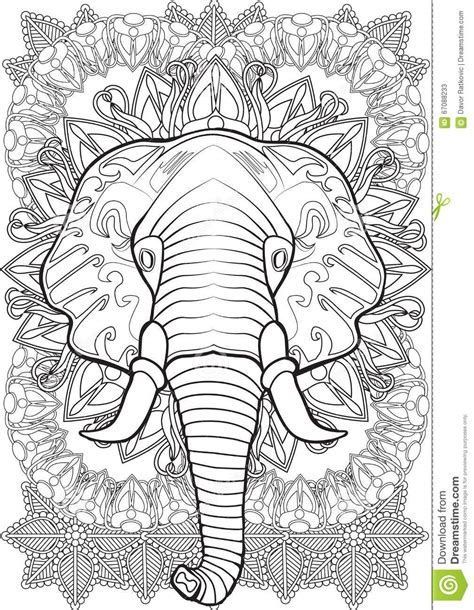 Coloring Vector by Elephant Stock Vector Image 67088233