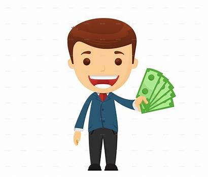 Money Boy Businessman Clipart Graphicriver Poses Character