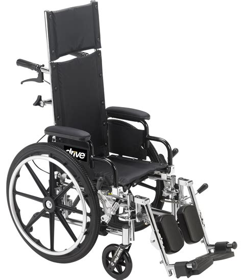 chaise handicap viper plus light weight reclining wheelchair with