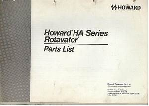 Howard Rotavator Ha Series Parts Manual