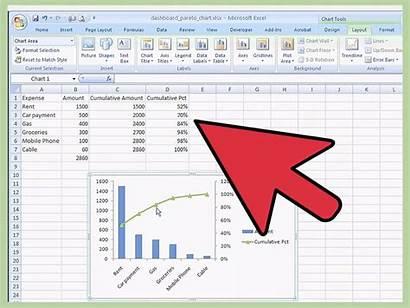 Excel Chart Template Spreadsheet Graph Pareto Ms