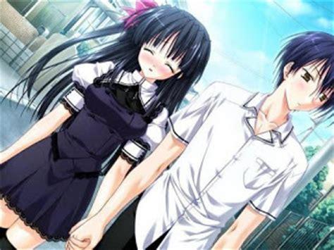 gambar animasi kartun romantis jepang anime gambar kata