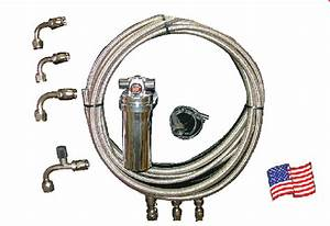 Aeroquip Braided Stainless A  C Hose Kit