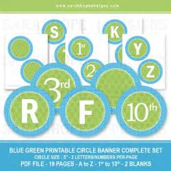 spell out anything with these free alphabet circle banners from designs catch my