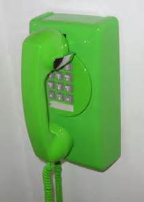 Green Retro Wall Phone
