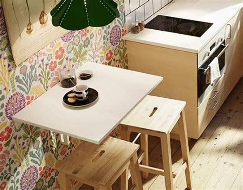 ideas  cocinas pequenas mesa abatible norbo de ikea