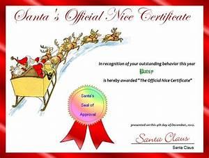 santa NICE LIST CERTIFICATES | FREE Printable Santa's ...