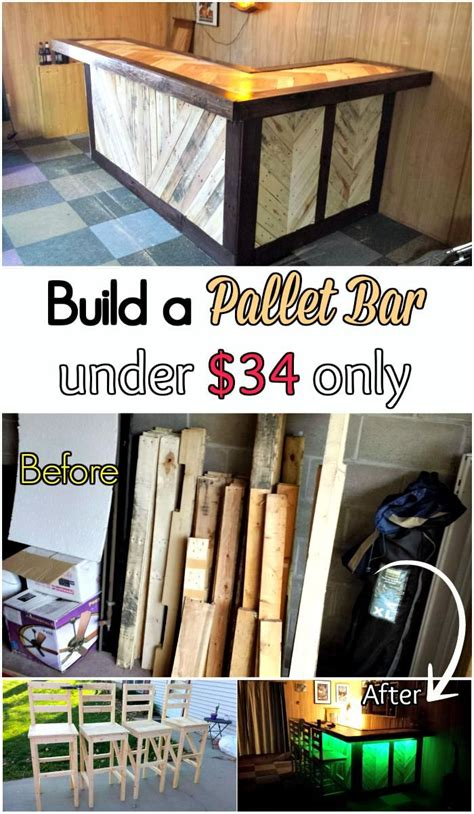 diy tutorial pallet bar     diy pallet