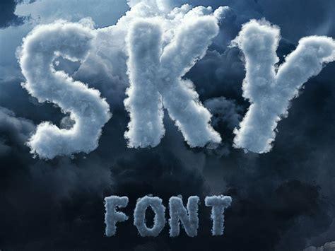 sky cloud font  fonts collection  dribbble
