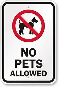 pet policies in stores