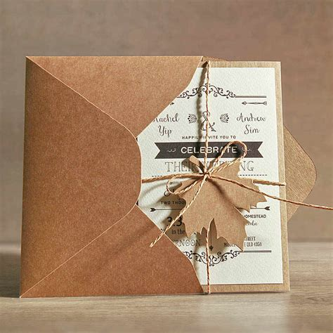 Wedding Invitations Sample Cards Template Rustic