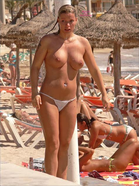 German Girls Beach Shower In Palma May 2011 Voyeur Web