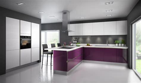 cuisine pour une cuisine aubergine pour ambiance chic inspiration cuisine