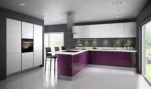 Photo De Cuisine : une cuisine aubergine pour ambiance chic inspiration cuisine ~ Premium-room.com Idées de Décoration