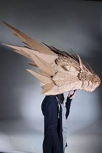 cardboard dragon head by spiritualmist on deviantart With cardboard dragon template