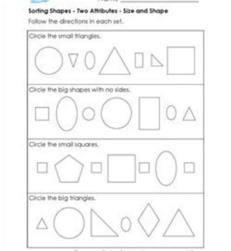 sorting shapes   attributes st grade geometry