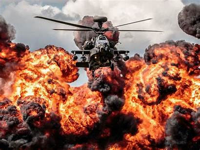 Helicopter Apache Explosion Fire Desktop Wallpapers13