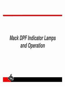 Mack Dp F Operation