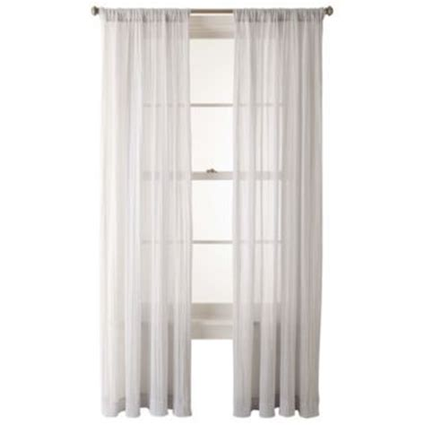 jcpenney sheer curtain rods jcpenney home lara rod pocket sheer panel found at